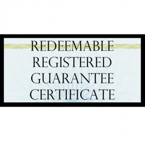 True US Dollar Redeemable Guarantee Certificate