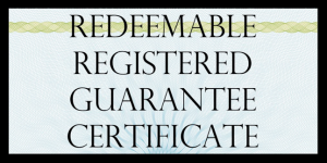 True US Dollar Redeemable Guarantee Certificate - Rita Anne Laframboise Warrant