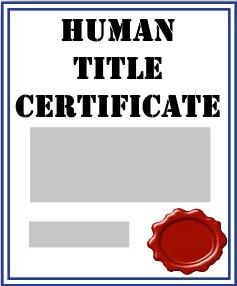 human-title-certificate