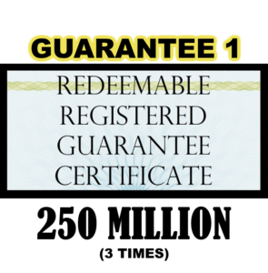 True US Dollar Redeemable Guarantee 1 Certificate - 250M