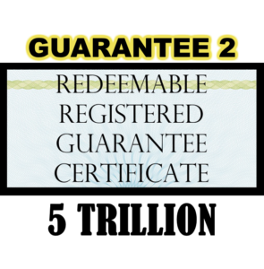 True US Dollar Redeemable Guarantee 2 Certificate - 5T