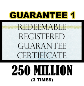True US Dollar Redeemable Guarantee 1 Certificate – 250M