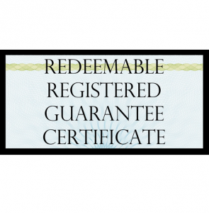 True US Dollar Redeemable Guarantee Certificate