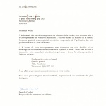 Rita Laframboise Tradex – Letter Recommanding Tradex Report To Go To The Royal Canadian Mounted Police